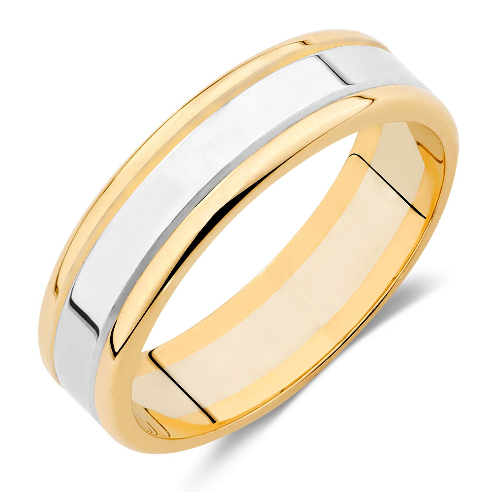 White And Yellow Gold Band Rings