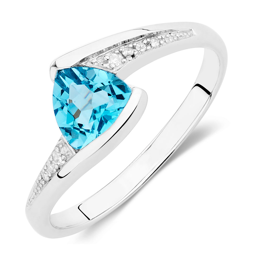 rings cushion over ring plated silver gold white topaz p sterling in halo cut blue
