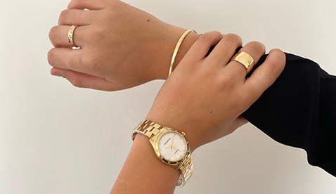Yellow Gold Watch and Rings