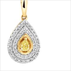 Natural Coloured Diamonds - Pendants