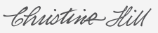 Christine Hill's signature